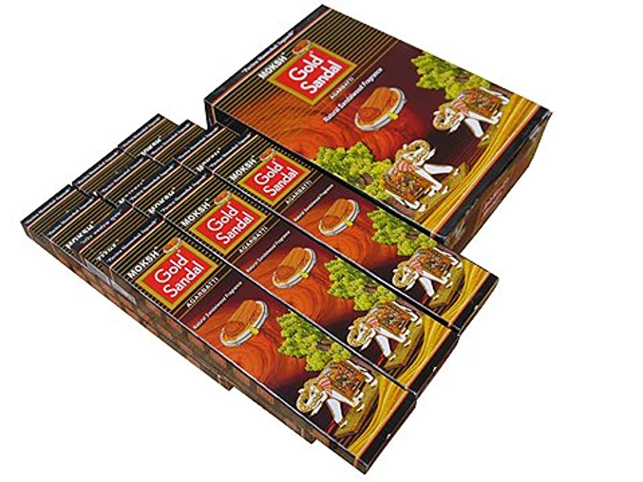 リラックスしたローンオーストラリアMoksh(モクシャ)社 Moksh(モクシャ)社 ゴールドサンダル香 スティック GOLD SANDAL 6箱セット