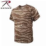 ロスコ Tシャツ デザートタイガーストライプカモ Rothco T-Shirts, Desert Tiger Stripe Camo 61090