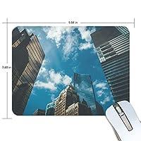 マウスパッド かわいい 大都市の高層ビル 青い空 高級 ノート パソコン マウス パッド 柔らかい ゲーミング よく 滑る 便利 静音 携帯 手首 楽