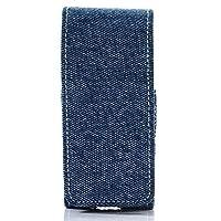 デニム アイコス iQOS ケース アイコスポーチ アイコス専用ケース iQOS 携帯ケース IQOS CASE 携帯ケース ストラップ付き (デニム ライトブルー)