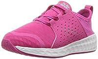 New Balance Girls' Cruz v1 Hook and Loop Running Shoe Pink/White 5.5 W US Toddler [並行輸入品]