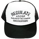 (アスナディスペック)ASNADISPEC メッシュキャップ CAP メンズ スナップバック ストリート ブランド ミリタリー 柄 ロゴ プリント 帽子 as-cap-15 BLACK/WHITE (¥ 1,980)