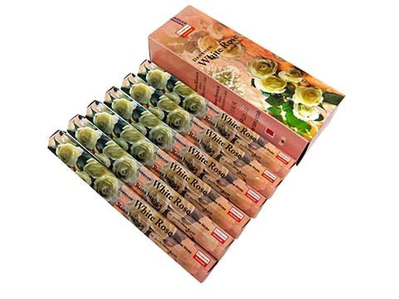 プランテーション真鍮フルーツ野菜DARSHAN(ダルシャン) ホワイトローズ香 スティック WHITEROSE 6箱セット