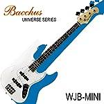 バッカスのミニ・ジャズ・ベース|Bacchus UNIVERSE Series WJB-mini WH/初心者や女性、ギタリストにも!! (WH/ホワイト)