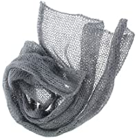 【ノーブランド品】 赤ちゃん 伸縮性 モヘア かぎ針編み ニット ラップ 毛布 出産お祝い ベビーシャワー 写真記念 撮影 小道具 全6色 - グレー