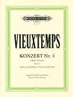 ヴュータン : バイオリン協奏曲 第4番 ニ短調 Op.31/ペータース社/ピアノ伴奏付ソロ楽譜