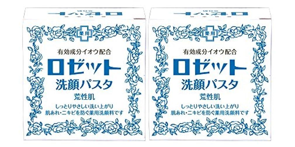 芝生アトミック代表するロゼット洗顔パスタ 荒性肌 90g×2個パック (医薬部外品)