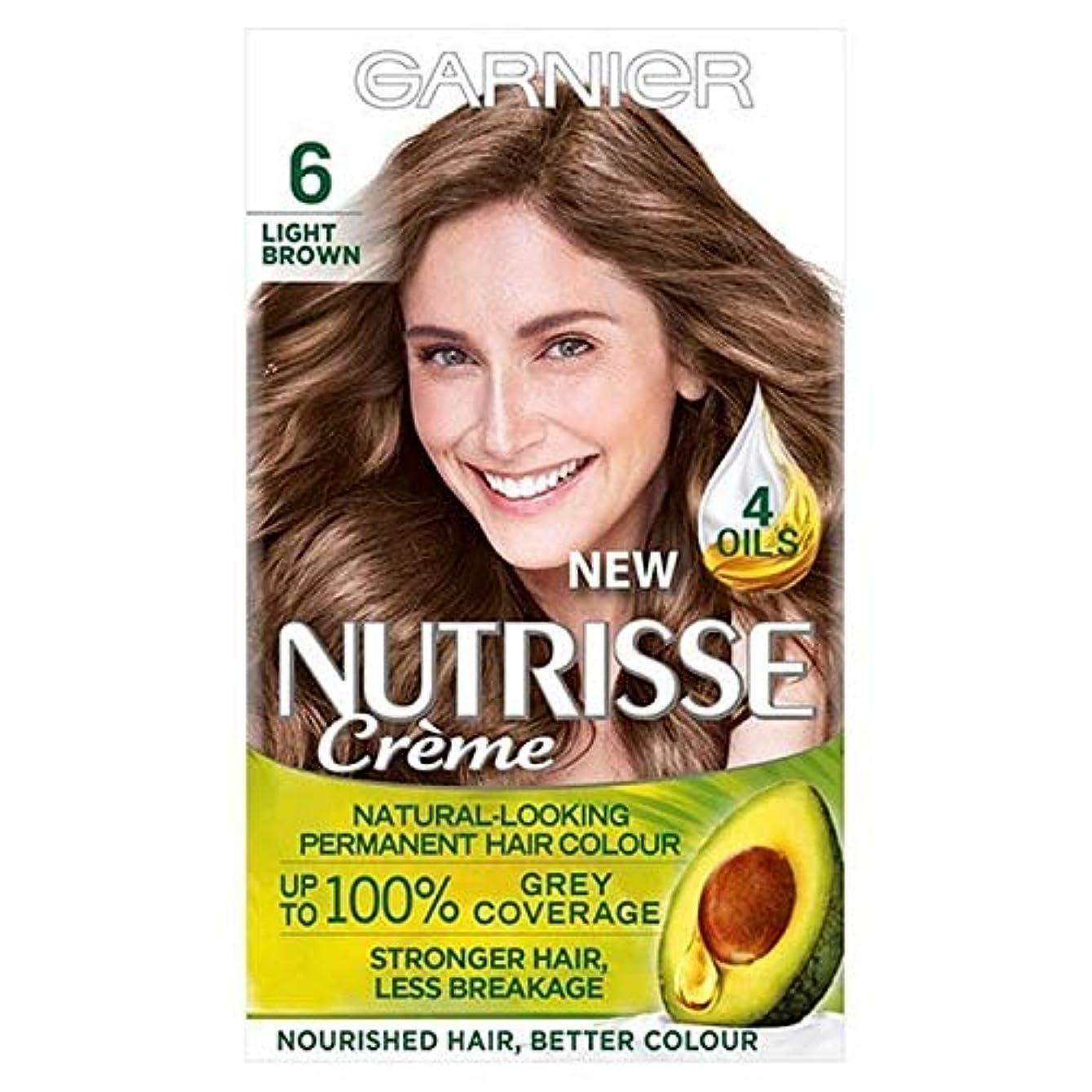 トムオードリースポンプ北[Garnier ] ガルニエNutrisse永久的な毛髪染料ライトブラウン6 - Garnier Nutrisse Permanent Hair Dye Light Brown 6 [並行輸入品]