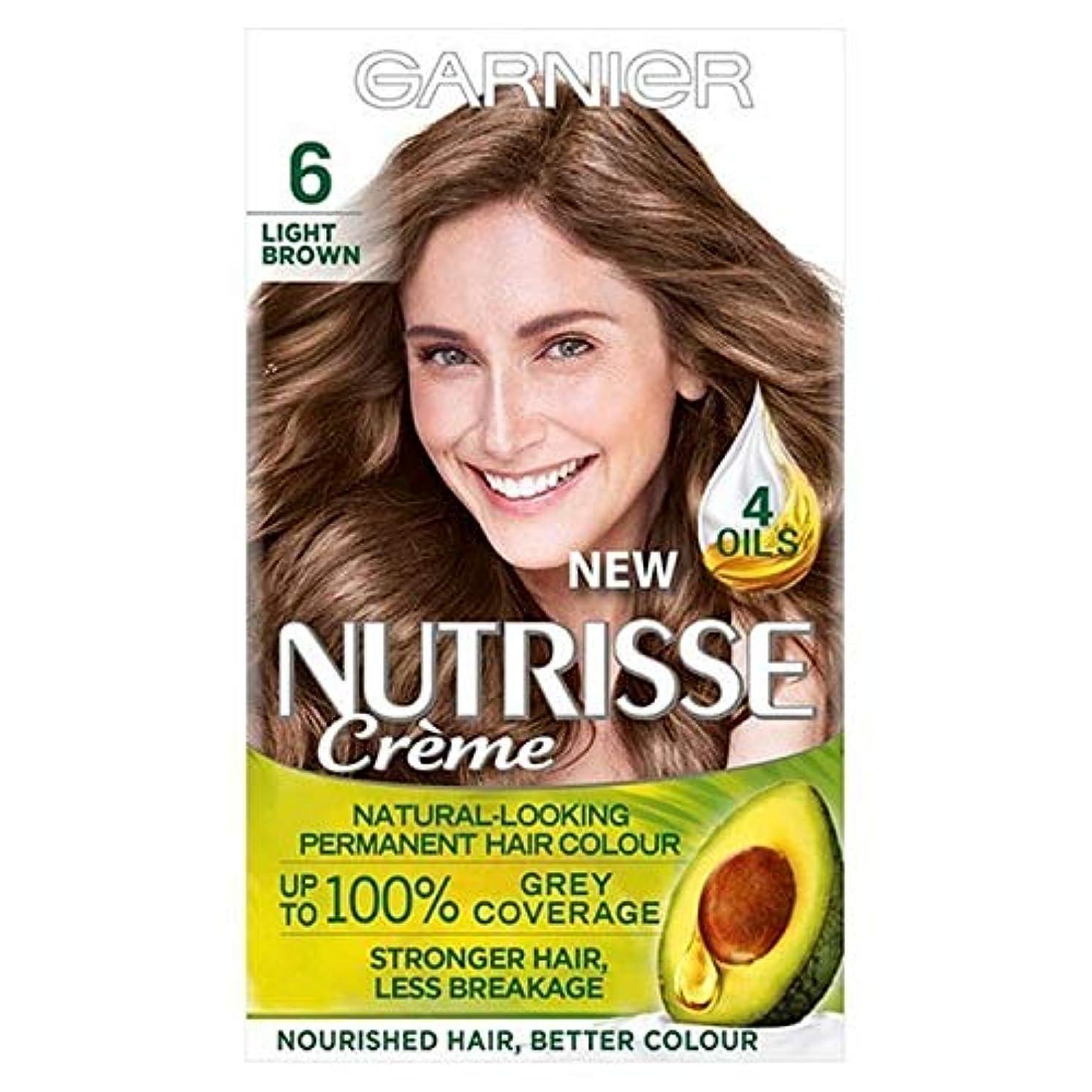 恩恵スローゴールデン[Garnier ] ガルニエNutrisse永久的な毛髪染料ライトブラウン6 - Garnier Nutrisse Permanent Hair Dye Light Brown 6 [並行輸入品]