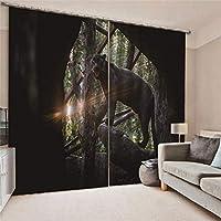 3Dブラックアウトカーテンヒグマウィンドウカーテン断熱ウィンドウトリートメント用キッチン寝室リビングルーム浴室装飾、220x215cm