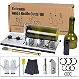 Kalawen Glass Bottle Cutter Bottle Cutting DIY Machine for Cutting Wine, Beer, Liquor, Whiskey, Alcohol Round Bottles from Bottom to Neck - Accessories Tool Kit Gloves Fixing Rubber Ring