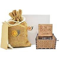 Buy allamazing Carved Wooden音楽ボックスEngraved手クランクミュージカルボックス木製音楽ボックス(Beatles Melodie)
