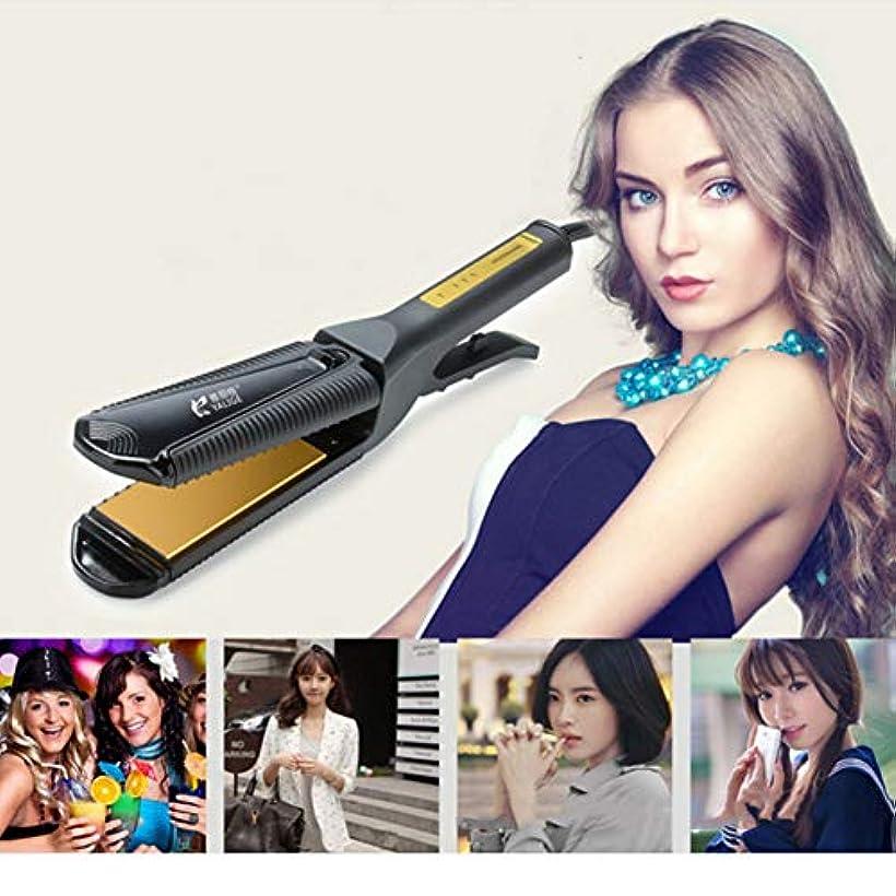 韓国語ハッチオーバーフロー6 1ストレートヘアアイロン3で1カーラー調節可能な温度コーン熱い髪ロールストレートデュアルユース理髪ツールボード電気合板多機能ヘアカーラー