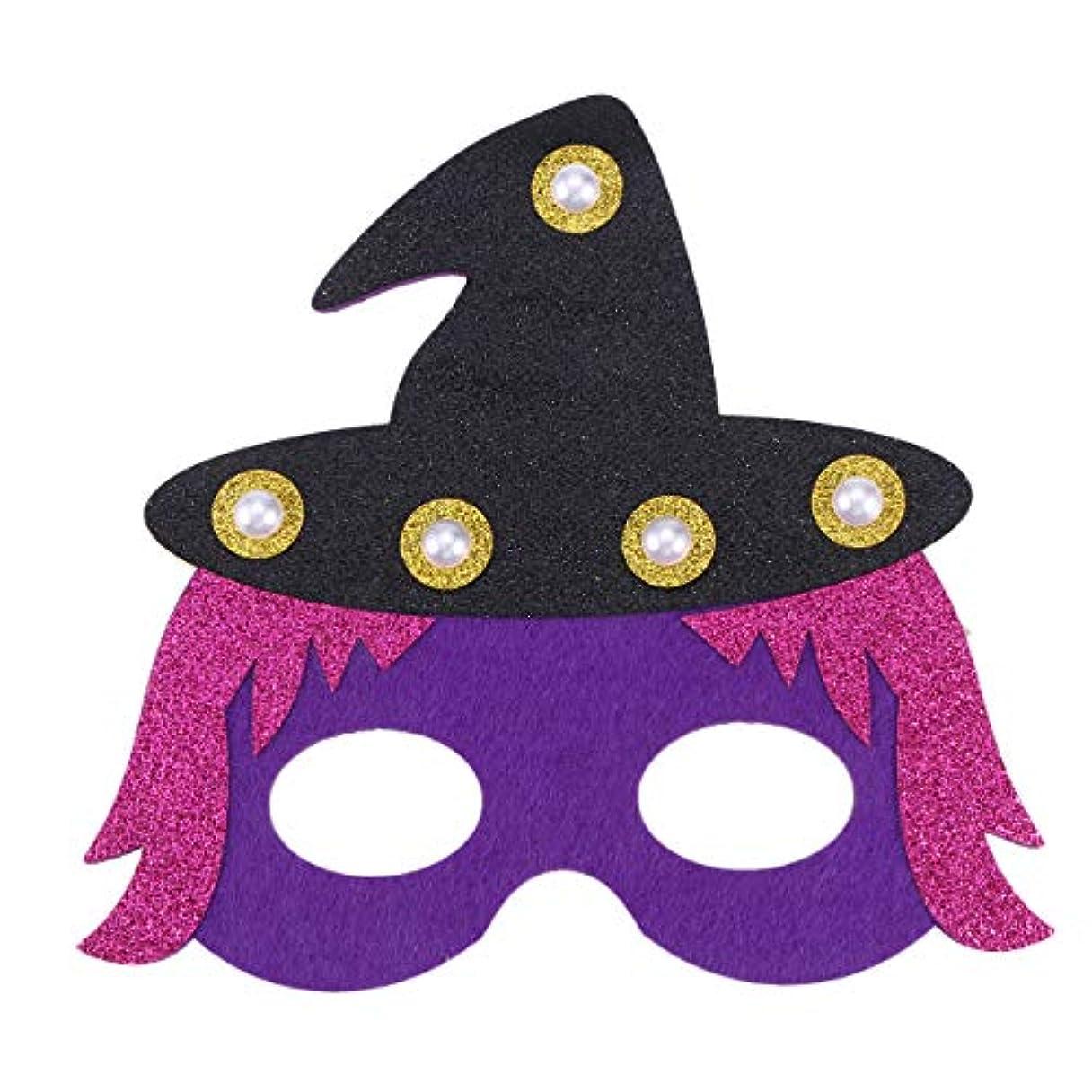 増幅する再生供給Lurrose ハロウィンマスクドレスアップフェルトアイマスクled不織布アイマスク子供用大人マスカレードパーティーコスプレ写真小道具