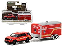 New 1:64 HITCH & TOW SERIES 10 COLLECTION - RED 2016 FORD EXPLORER - F.D.N.Y. Diecast Model Car By Greenlight [並行輸入品]