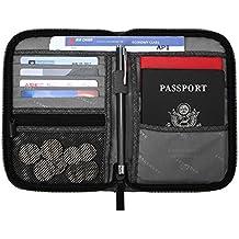BAGSMART Travel RFID Blocking Wallet Passport Holder Cover Credit Card Organizer
