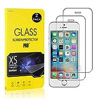 【2枚セット】 iPhone SE / 5 5S フィルム CUNUS Apple iPhone SE / 5 5S 専用設計 強化ガラスフィルム 硬度9H 超薄0.26mm オイル防止 気泡防止 飛散防止 高感度タッチ 耐衝撃 液晶保護フィルム