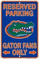 Florida Gatorsファン予約駐車場サインメタル8x 12エンボス