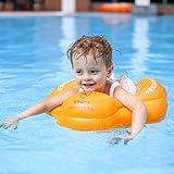 Free Swimming Baby ベビー用エアマット水泳圏はプールやバスタブで利用できます (オレンジ, M)