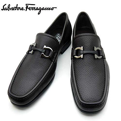 フェラガモ/Salvatore Ferragamo メンズ ローファー ビジネスシューズ 靴 モカシン ガンチーニ GRANDIOSO 0642847 HICKORY ダークブラウン[並行輸入品]