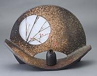 扇形花器 信楽焼 陶器 花器 花入 花瓶