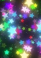ポスター ウォールステッカー シール式ステッカー 飾り 364×515㎜ B3 写真 フォト 壁 インテリア おしゃれ 剥がせる wall sticker poster pb3wsxxxxx-014008-ds 星 ネオン カラフル