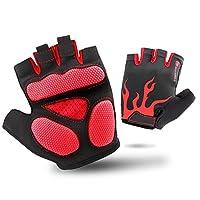 ハーフフィンガー 手袋 タッチスクリーン 男性 女性 ライディング 防水 アウトドア スポーツ 登山者 ミトン, red, xl