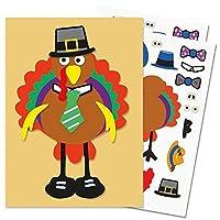 """Current Make-A-Turkey Sticker Sheets - Set of 12,Turkey approx. 4"""" Tall [並行輸入品]"""