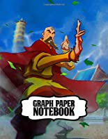"""Graph Paper Notebook: Graph Paper Notebook Soft Glossy 8.5"""" x 11"""" Grid Paper The Last Airbender Aang Katara Sokka Drawing Photo Artwork for  Math & Science Students"""