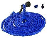 JQ 伸びるホース 伸縮ホース マジックホース エコ ドライバー フック付き ホース ガーデニング 散水ホース マジックホース ホース 水まきホース 高圧洗浄 ジョイント 大掃除 洗車 花園用 3倍に伸びる マジックホース 7種散水ノズルがあり (2.5-7.5M)