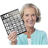 Royal Bingo Supplies EZリーダー Lサイズ8.5インチ x 11インチ ビンゴカード とジャンボ1インチサイズ数字