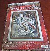 Christmas Traditions Polar Santa Claus Cross Stitch Kit - 13.5 x 16.5 [並行輸入品]