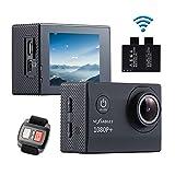 NexGadget アクションカメラ HD 高画質 スポーツカメラ リモコン遠隔操作可 30m防水 ドライブレコーダー機能