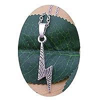 上品な銀の稲妻のネックレス 雷稲妻チャーム、シルバーチャーム 毎日のネックレス
