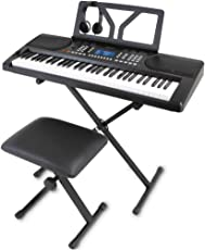 ONETONE ワントーン 電子キーボード 61鍵盤 初心者セット 日本語パネル ピッチベンド搭載 OTK-61S (譜面立て/電源アダプター/スタンド/椅子/ヘッドフォン付き)