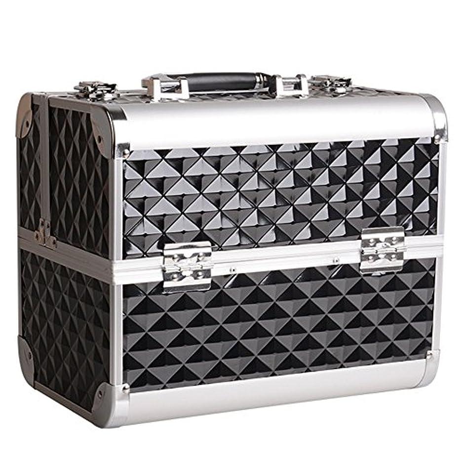 ギャンブルコンセンサスレディ化粧オーガナイザーバッグ トラベルアクセサリーのポータブル化粧ケースシャンプーボディウォッシュパーソナルアイテムロックとトレイ付き収納 化粧品ケース