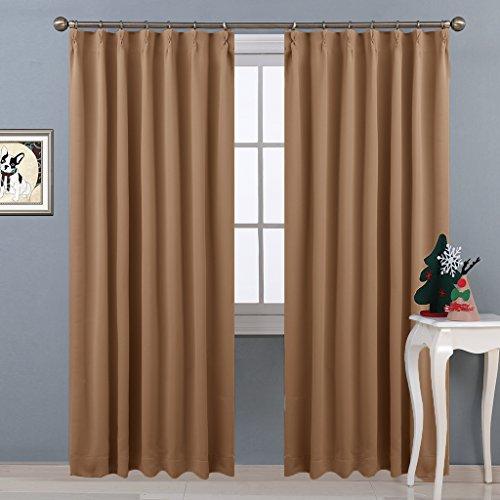 NICETOWN 遮光カーテン 2枚セット カーキー 断熱 防音 プライバシー 幅100cm丈178cm