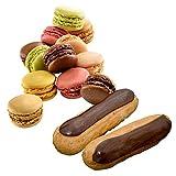 フランス直輸入 pasquier パスキエ マカロン & チョコエクレア(Eclaire au chocolat 45g / Macarons 6 flavours )