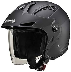 マルシン(MARUSHIN) バイクヘルメット ジェット バイザー付き M-385 マットブラック フリーサイズ(57~60CM)