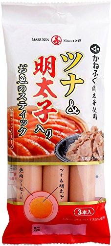 丸善 ツナ&明太子入りお魚のスティック3本P 150g×10袋