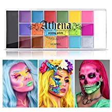 UCANBE Athena Face Body Paint Oil Palette, Professional Flash Non Toxic Safe Tattoo Halloween FX Party Artist Fancy Makeup Painting Kit For Kids and Adult