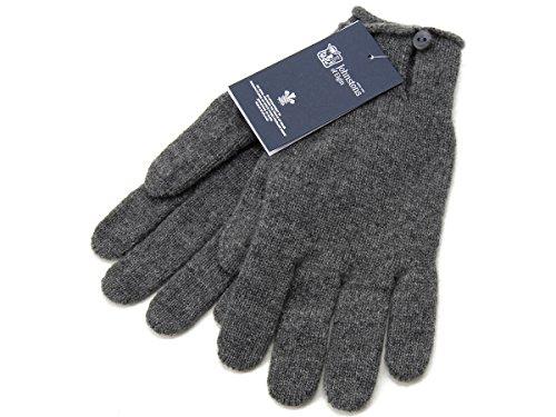 (ジョンストンズ) JOHNSTONS 手袋 HAY2241 HA0501 カシミア100% グローブ ミッドグレー メンズ レディース [並行輸入品]