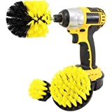 Drill Brush Attachment 3 Pack- Power Scrubber Brush Cleaning Kit - All Purpose Drill Brush for Bathroom Surfaces, Grout, Floo