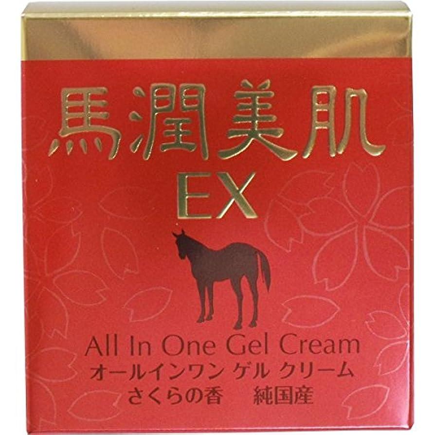 努力品種ひどい馬潤美肌EX 馬油エキス入りオールインワン ゲルクリーム さくらの香 230g