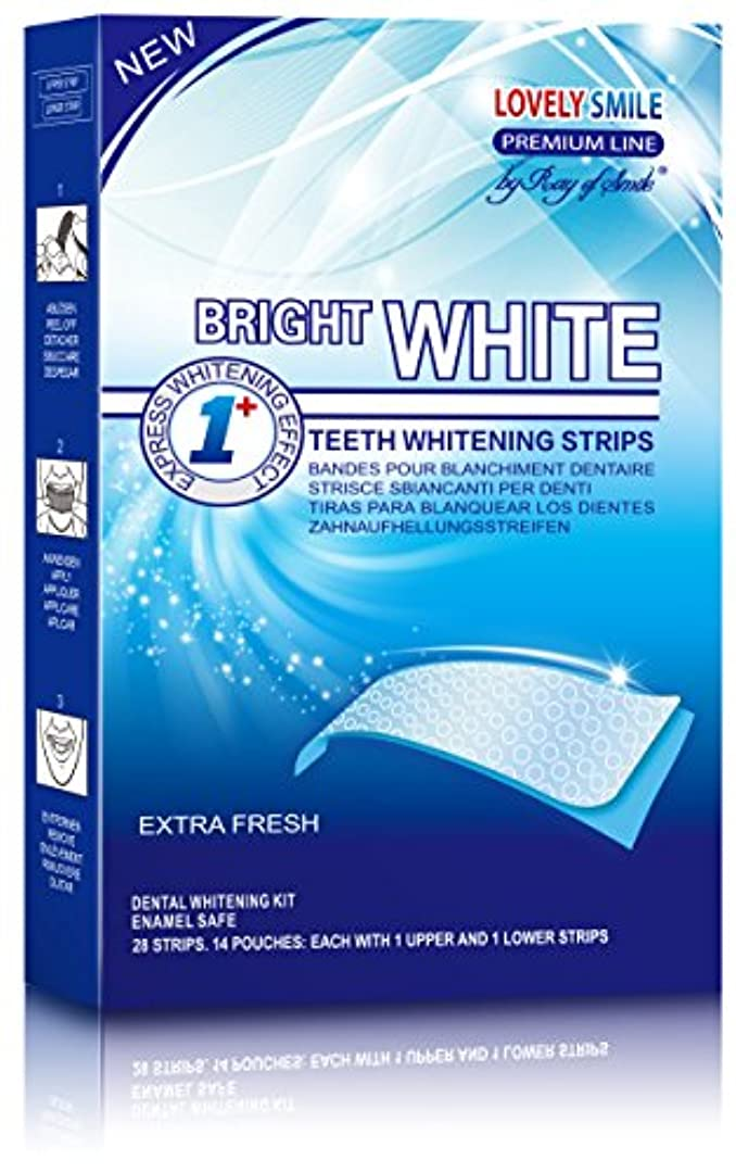 排泄物小切手内部28 Teeth Whitening Strips | Lovely Smile Premium Line Professional Quality - NEW Non-Slip Tech - Teeth Whitening...