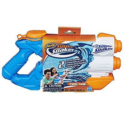 Nerf Super Soaker - Twin Tide - Dual Stream - Kids Water Blaster - Ages 6+