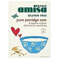 無料の純粋なお粥オート麦は小袋8×27グラムを表現Amisa有機グルテン - Amisa Organic Gluten Free Pure Porridge Oats Express Sachets 8 x 27g [並行輸入品]