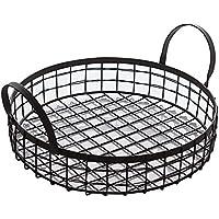 キッチンフルーツストレージバスケット手作りのパンのバスケット鍛鉄の家庭用ストレージ(29 * 13cm)