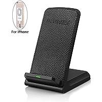 高速ワイヤレス充電器、foretoo Qiワイヤレス充電パッドfor iPhone X iPhone 8 / 8 Plus Samsung Galaxy s8 s8 Plus s7、Qiデバイス( no ACアダプタ)
