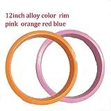アルミ合金リム12inch203子供バレンス自転車用幅30mm20穴数赤、黒、オレンジ、ピンク、ブルー、グリーン、金色のカラー